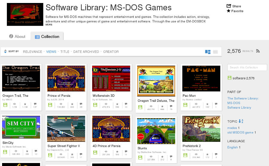 MS-DOS Juegos online